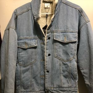NEW WITH TAGS! Fleece lined jean jacket